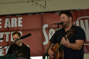 Chris Spivy and Kyle Mitchell leading worship